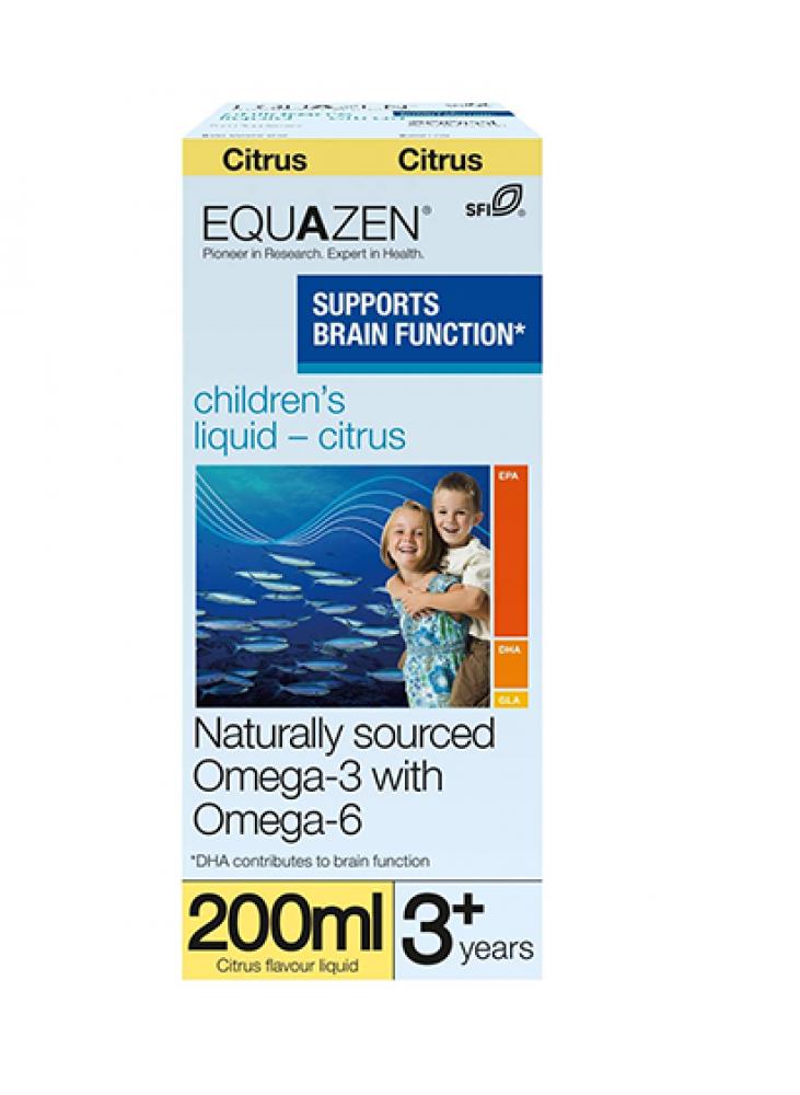 Equazen Eye Q Citrinų Skonio Skystis,  200ml