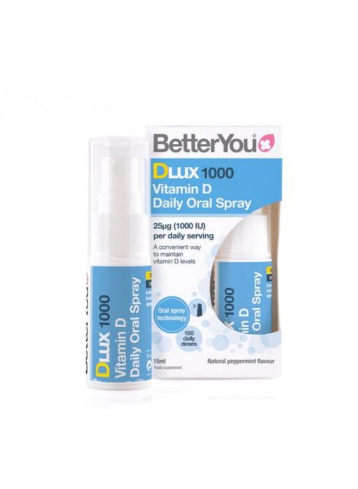 Purškiamas Vitaminas D BetterYou DLux 1000, 15 ml