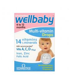 Wellbaby multi-vitaminų lašai, 30ml